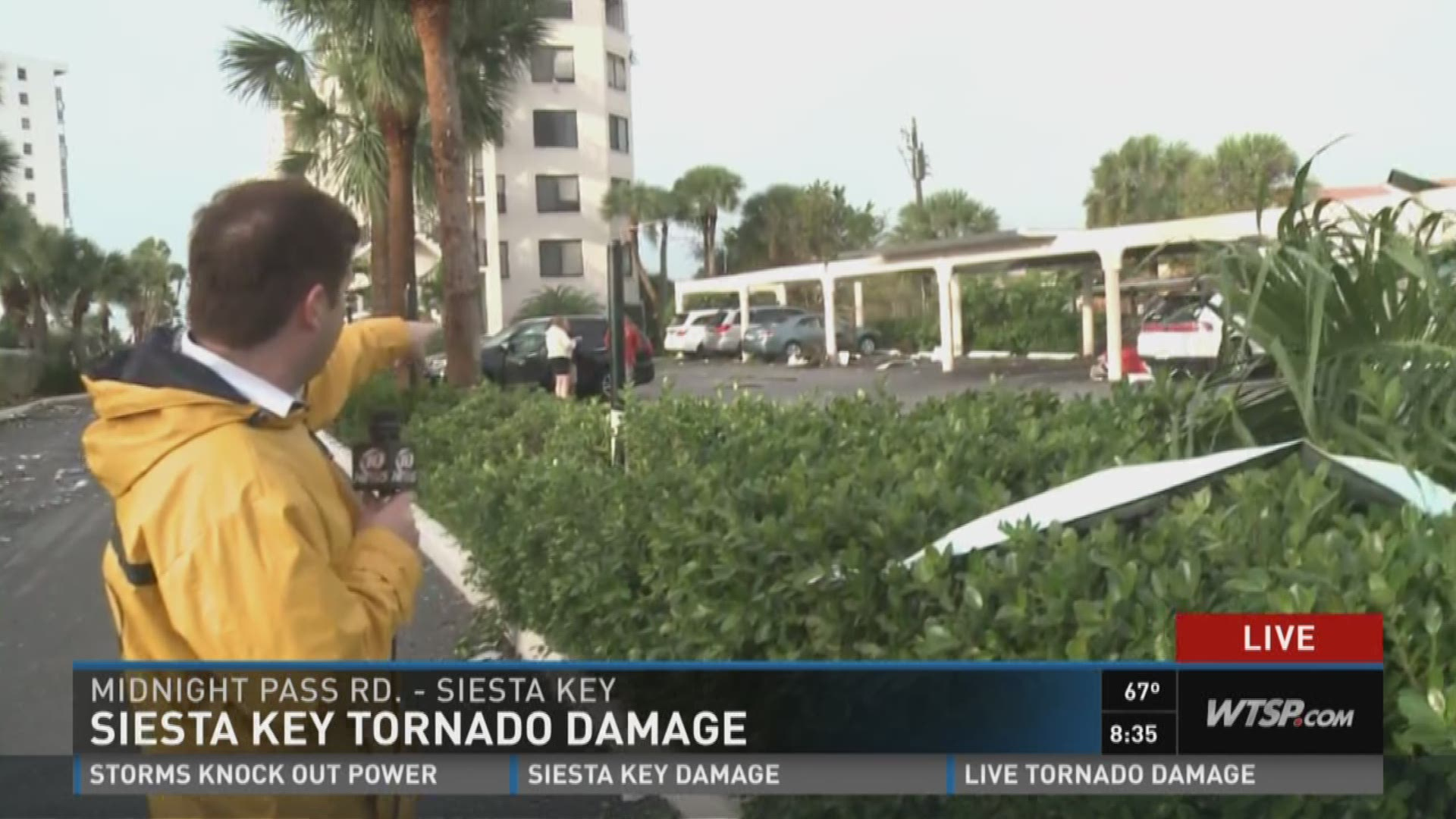 Siesta Key tornado damage