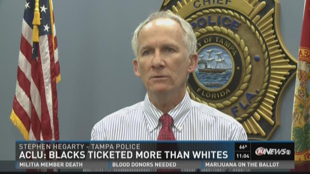 ACLU: Blacks ticketed more than whites