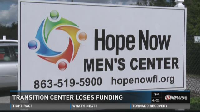 Transition center loses funding