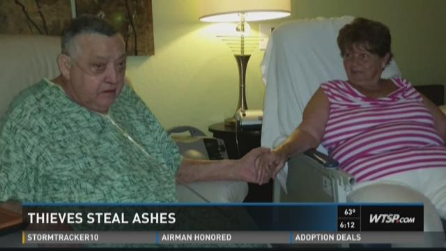 Thieves steal ashes