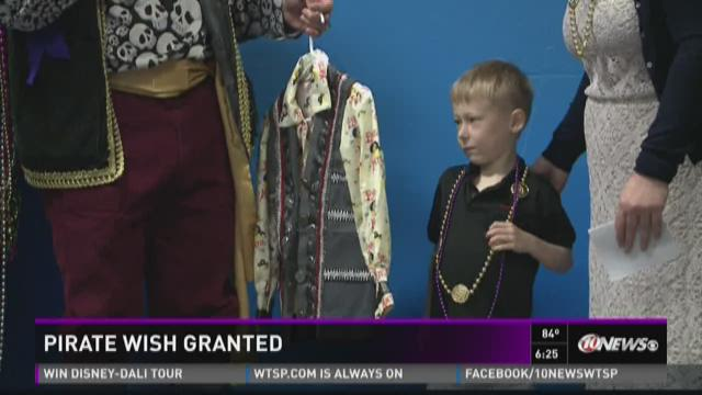 Boy's wish for pirate party comes true
