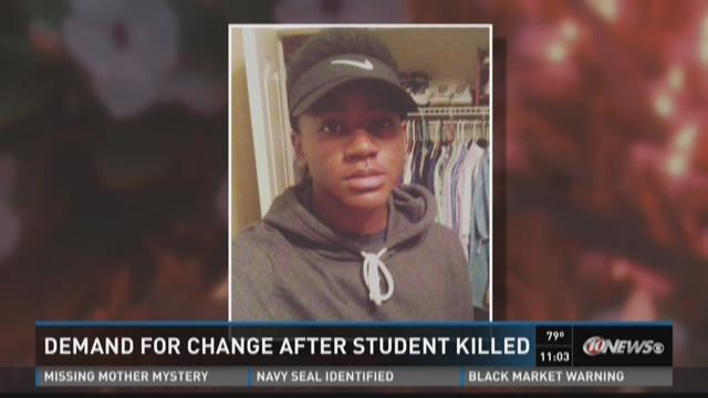 Demand for change after student killed