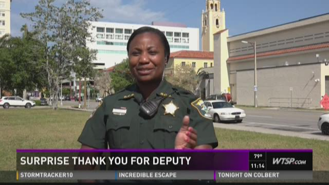 Surprise thank you for deputy