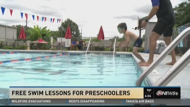 Free swim lessons for preschoolers