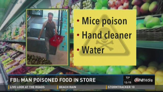 FBI: Man poisoned food in grocery stores