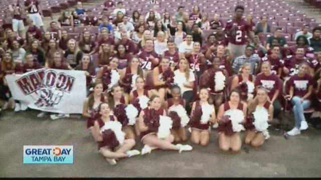 Tarpon Springs High says have a Great Day Tampa Bay!