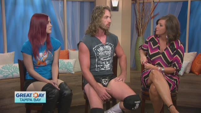 American Combat Wrestling in studio