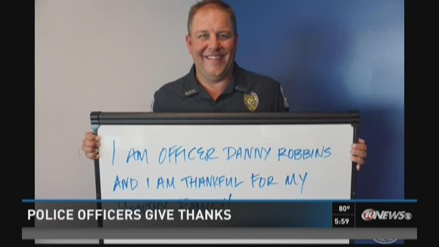 Sarasota Police officers post messages of thanks