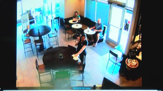Video captures courageous Starbucks customer taking on knife-wielding robber