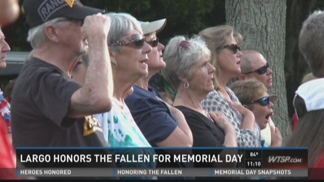 Largo ceremony honors fallen service members