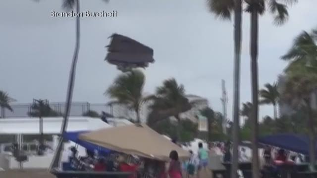 Police: 3 kids injured when waterspout uproots bounce house