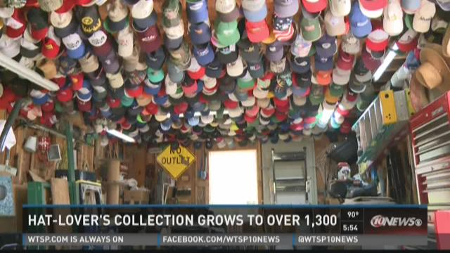 Hat-lover's collection grows to over 1,300