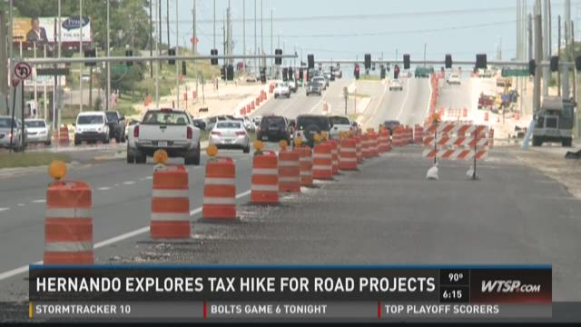 Hernando explores gas tax hike for road projects