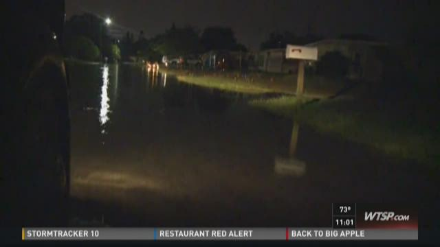 Storms cause street flooding in Pasco