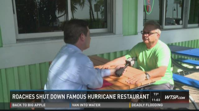 Roaches shut down famous Hurricane Seafood Restaurant