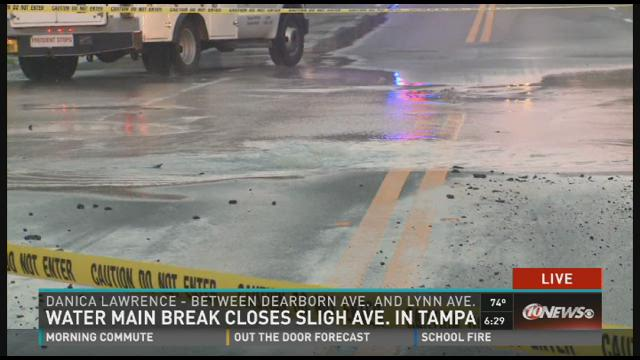 Tampa water main break