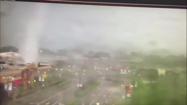 WATCH: Surveillance camera captures EF1 tornado