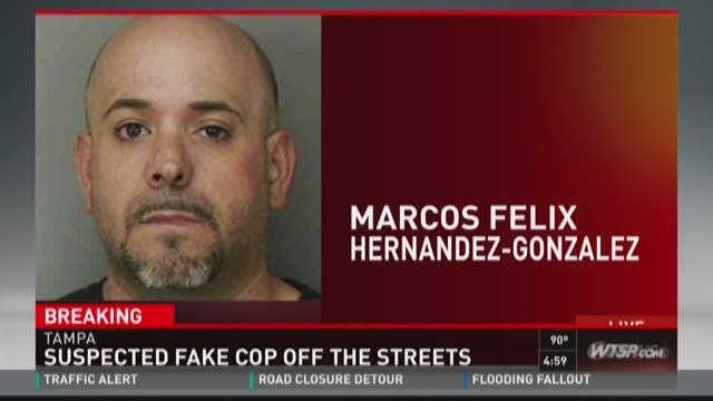 Suspect charged in fake officer case