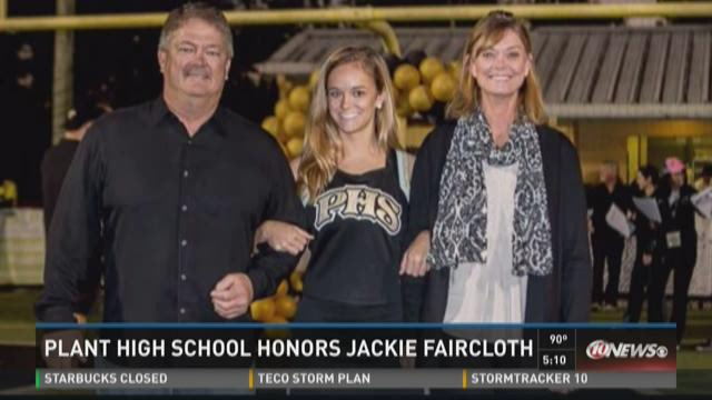 Plant High honors injured cheerleader
