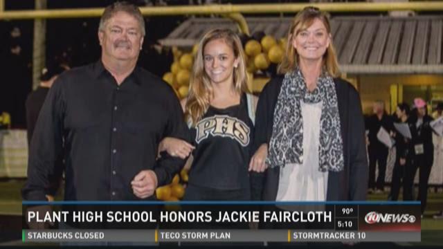Plant High honors injured cheerleader