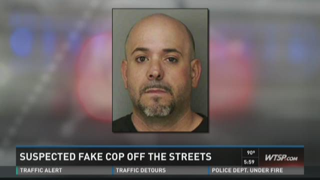Suspected fake cop off the streets