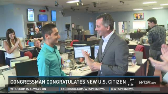 Congressman congratulates new U.S. Citizen