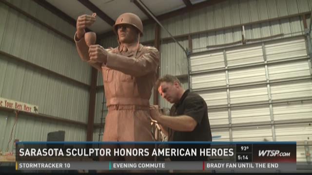 Sculptor honors service members