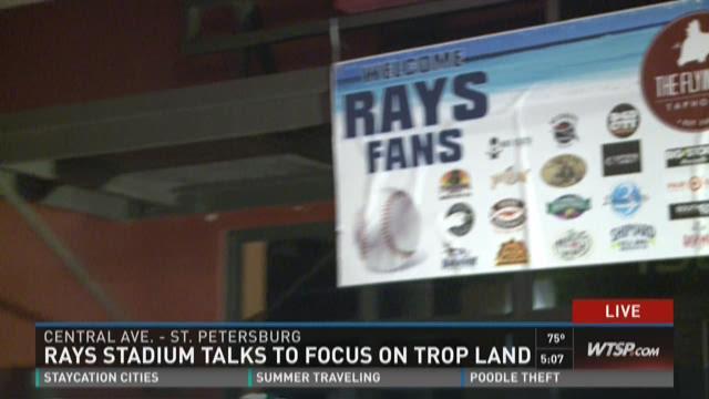 Rays stadium talk looks at Trop land