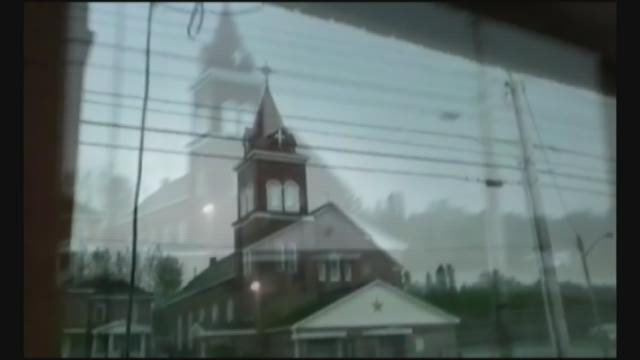 WATCH: Lightning strikes church in Maine