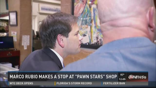 "Marco Rubio makes a stop at ""Pawn Stars"" shop"