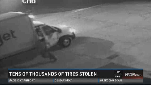 Thieves steal trucks, tires in Manatee