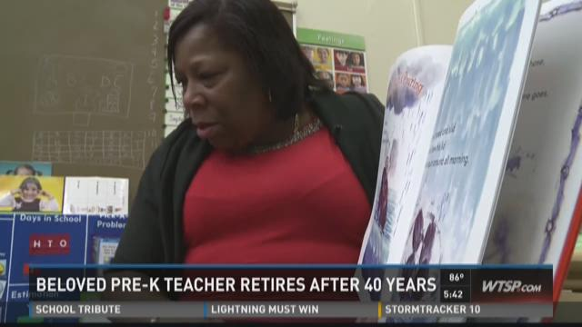 Beloved pre-K teacher retires