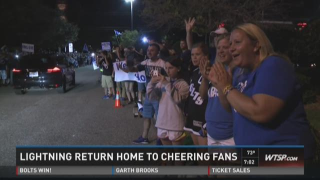 Tampa Bay Lightning return home to fans