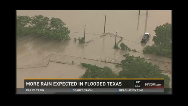 More rain expected in flooded Texas