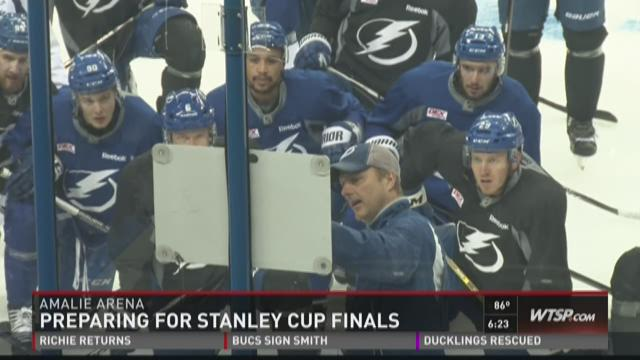 Lightning prepare for Stanley Cup Final