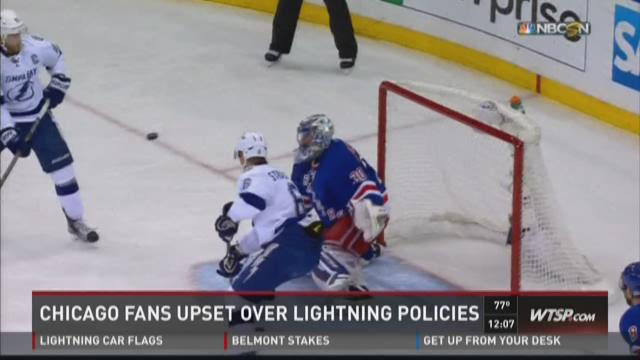 Chicago fans upset over Lightning policies
