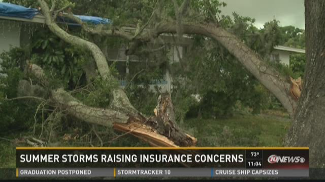 Summer storms raise insurance concerns