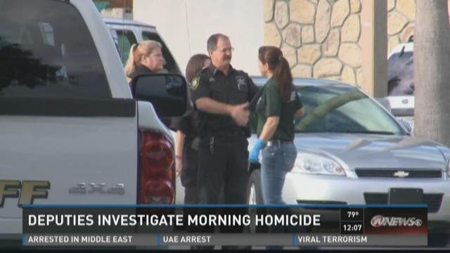 Deputies investigate morning homicide