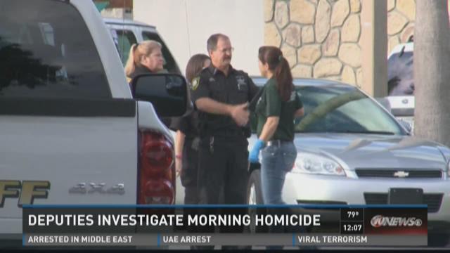 Deputies investigate morning homicide