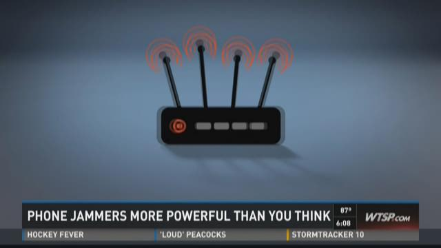 Phone jammers more powerful than you think