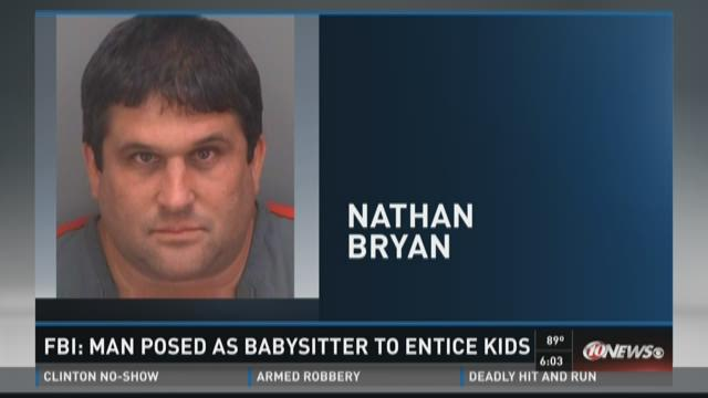 FBI: Man posed as babysitter to entice kids
