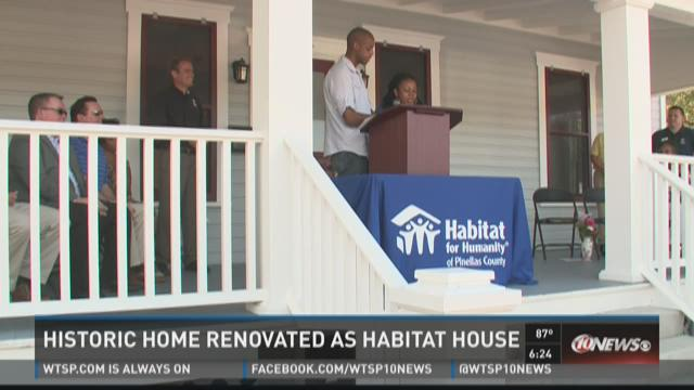 Historic home renovated as Habitat house