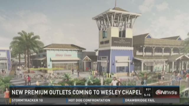 Tampa Premium Outlets nears in Wesley Chapel