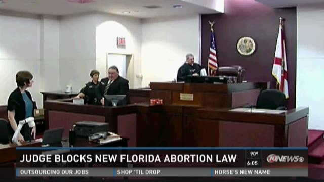 Judge blocks new Florida abortion law