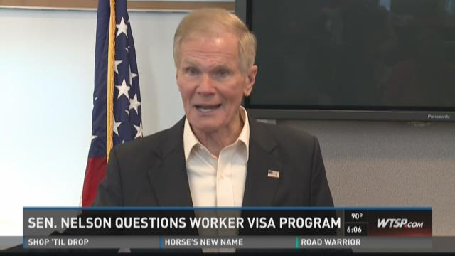 Sen. Nelson questions worker visa program