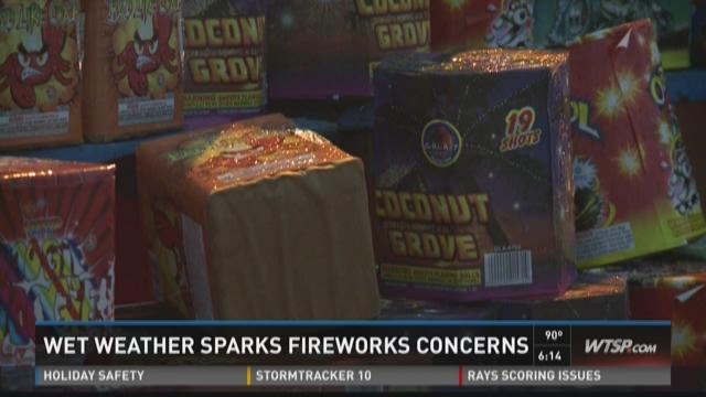 Wet weather sparks fireworks concerns