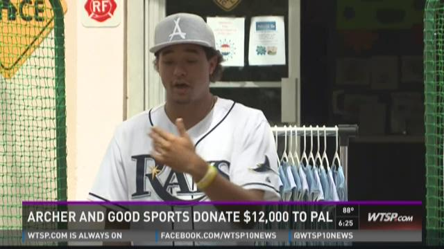 Chris Archer teams up with Good Sports to donate $12K to PAL