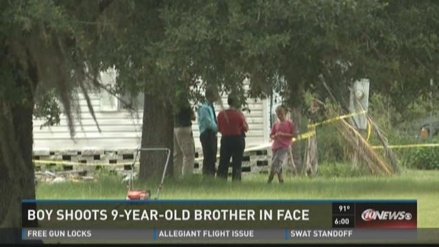 Boy shoots 9-year-old brother in face