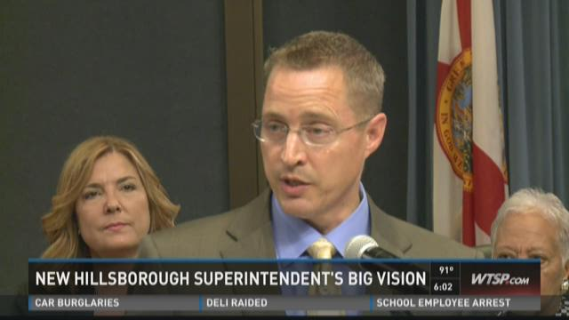 New Hillsborough Superintendent's big vision