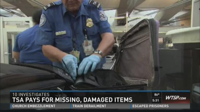 TSA pays for missing, damaged items